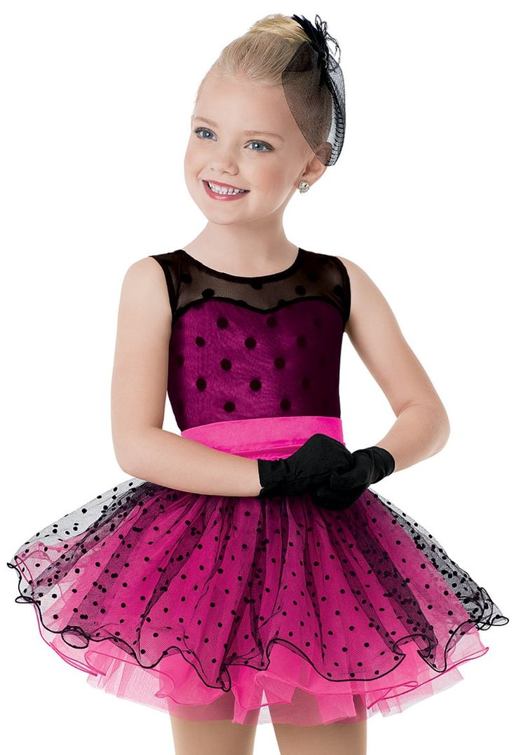 Weissman™ | Satin Dot Curly Hem Tutu Dress