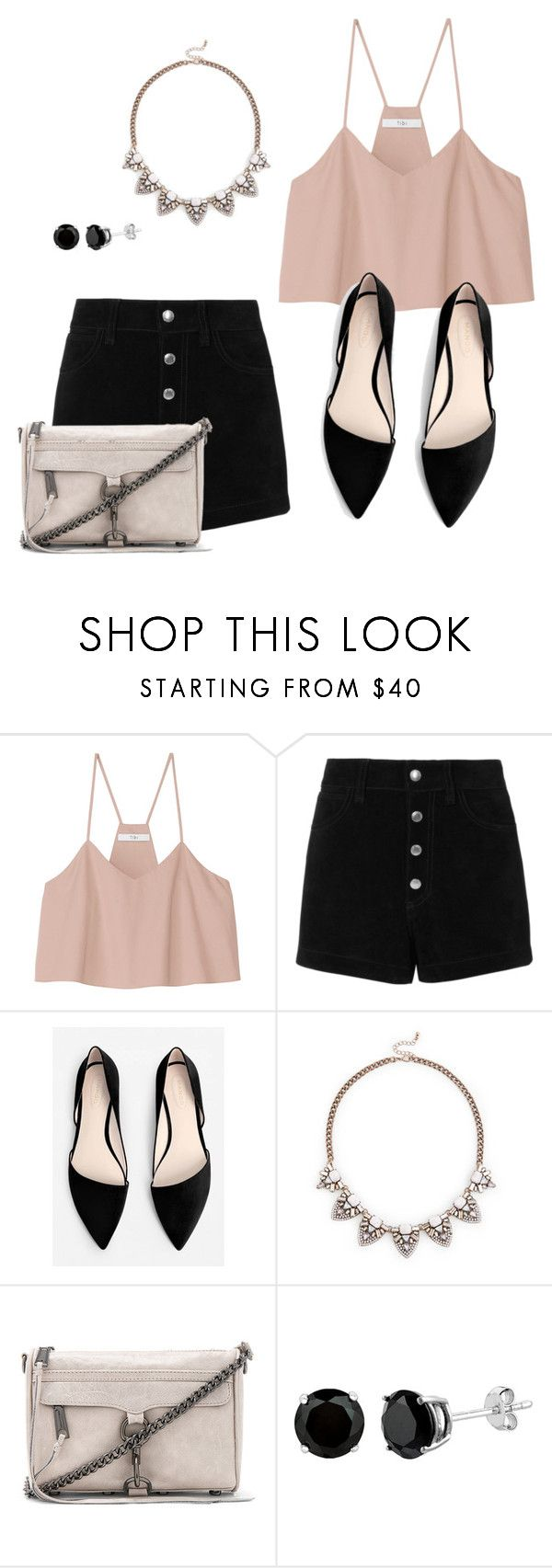 """""""Untitled #198"""" by rebekah112 ❤ liked on Polyvore featuring TIBI, rag & bone/JEAN, MANGO, Sole Society and Rebecca Minkoff"""