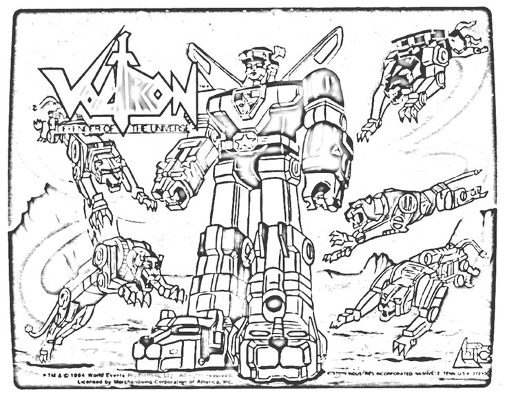 Voltron Legendary Defender In Coloring Pages: Voltron Lions Coloring Pages - Google Search