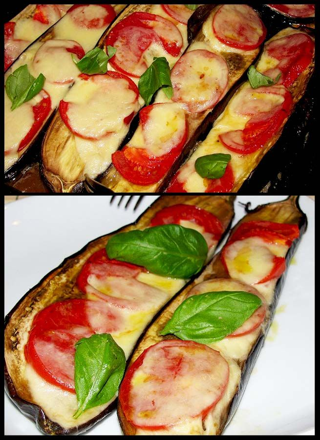Eggplant Gratin - mozzarella, tomatoes and basil