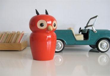Three Potato Four's French Money Box - Owl . Looks so sweet in the nursery.
