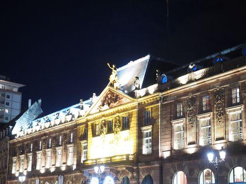 Strasbourg town hall illuminated at Christmas