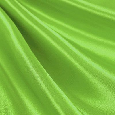 Lime Green Satin Fabric