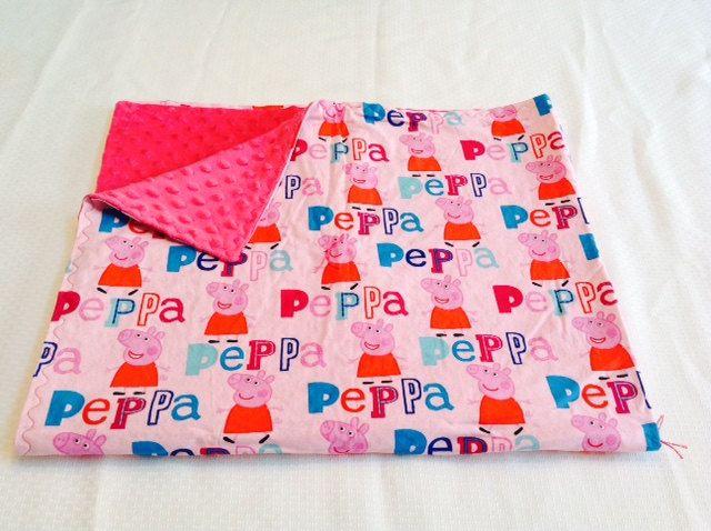 Peppa Pig Blanket by DailySnuggle on Etsy