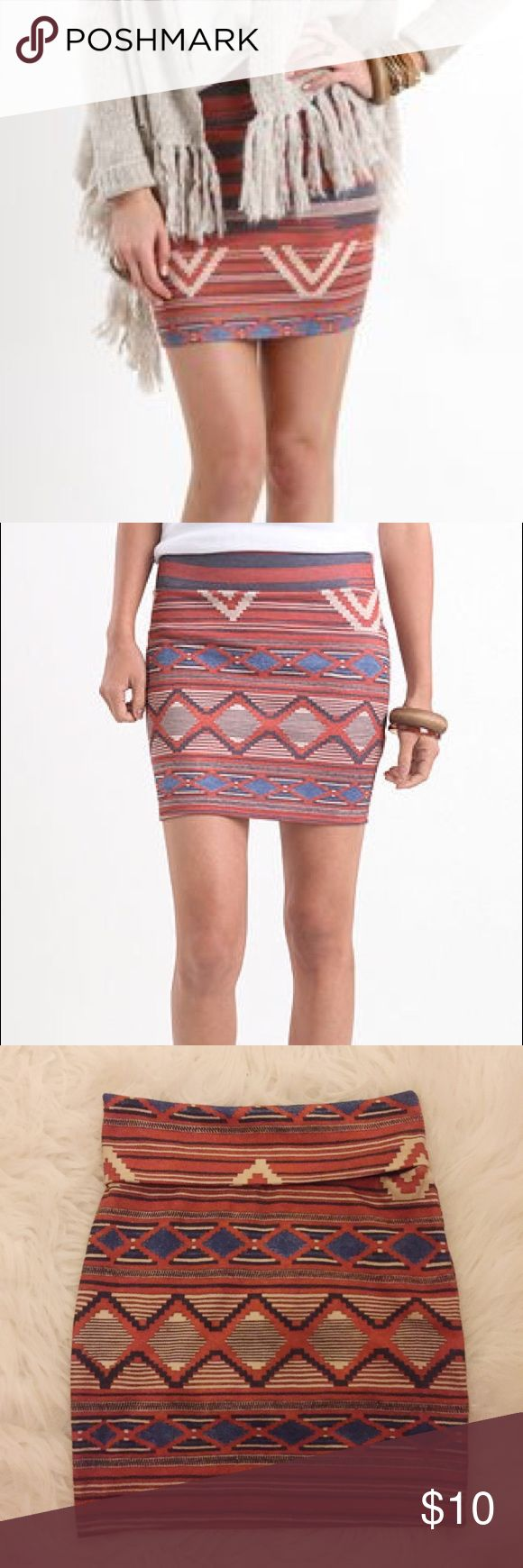 Printed Bodycon Skirt New, never worn, NWNT - known as 'Nollie Navajo Body Con Skirt' from PacSun PacSun Skirts Mini