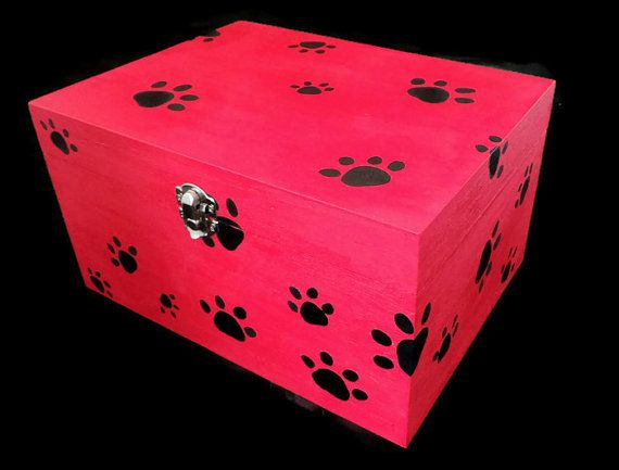 Dog Treat Container Gift Box Dog by SCWVintage on Etsy