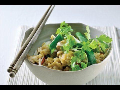 Recept voor gebakken rijst met kip   njam!