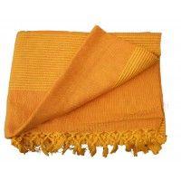Tenture Kérala plaid couvre-lit Orange Clair
