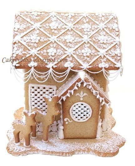 Maybe we could make houses with snow and not candy next time!!! I LOVE these reindeer! .