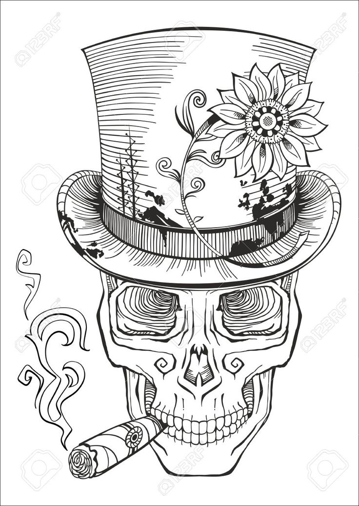 Day Of The Dead Baron Samedi Drawing Royalty Free Stock Vector Art