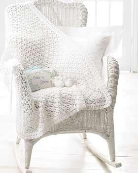 Crochet Baby Blanket and Booties free crochet pattern