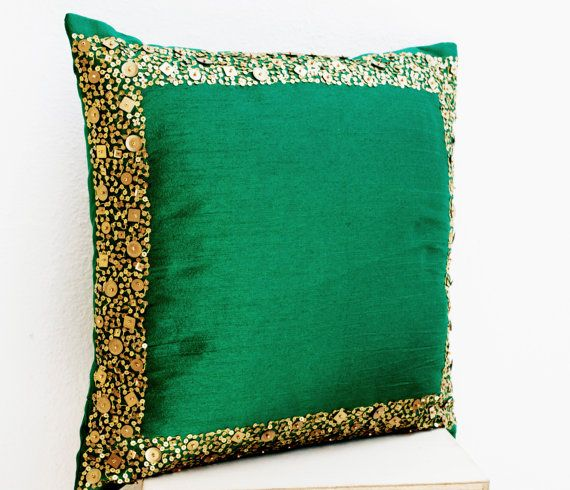 Emerald Greens & Gold  by T J on Etsy