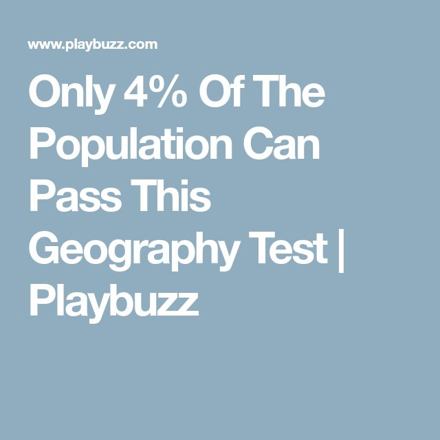 Only 4% Of The Population Can Pass This Geography Test | Playbuzz