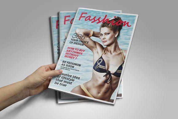 Fashion Magazine Template by DesignCorner on @creativemarket