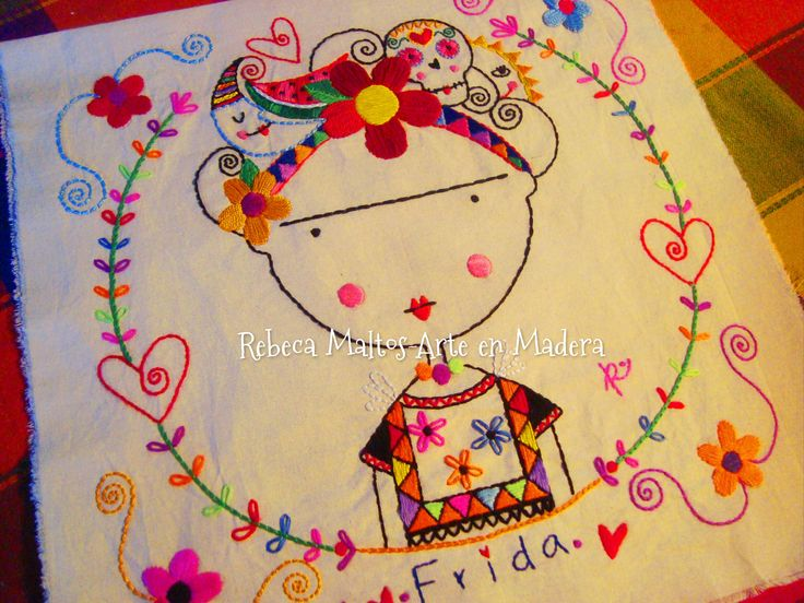 FridaKahlo #embroidery #hoopart #RebecaMaltos #design #art #artist ...