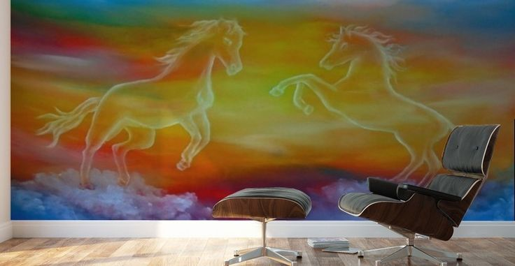Mural Print, art for home, horses,skyscape,fantasy,scene,sky,clouds,sunset,sunrise,equine,equestrian,wild,animals,wildlife,picturesque,dream,magical,majestic,whimsical,vibrant,vivid,colorful,blue,impressive,cool,beautiful,powerful,atmospheric,celestial,mesmerizing,mystical,dreamy,dreamlike,contemporary,imagination,surreal,fine,oil,wall,art,images,home,office,decor,painting,artwork,modern,items,ideas,for sale