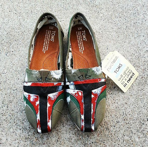 Boba Fett Toms - New Shoes Included - Made to Order - MENS / WOMENs