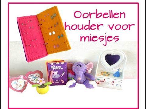 DIY- Oorbellenhouder voor kleine meisjes van vilt, karton en foam - YouTube