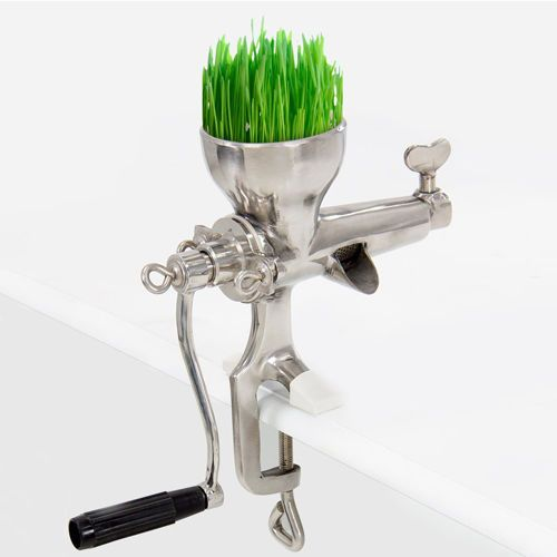 Wheat Grass Hand Juicer Manual Juice Wheatgrass Extractor - Stainless Steel