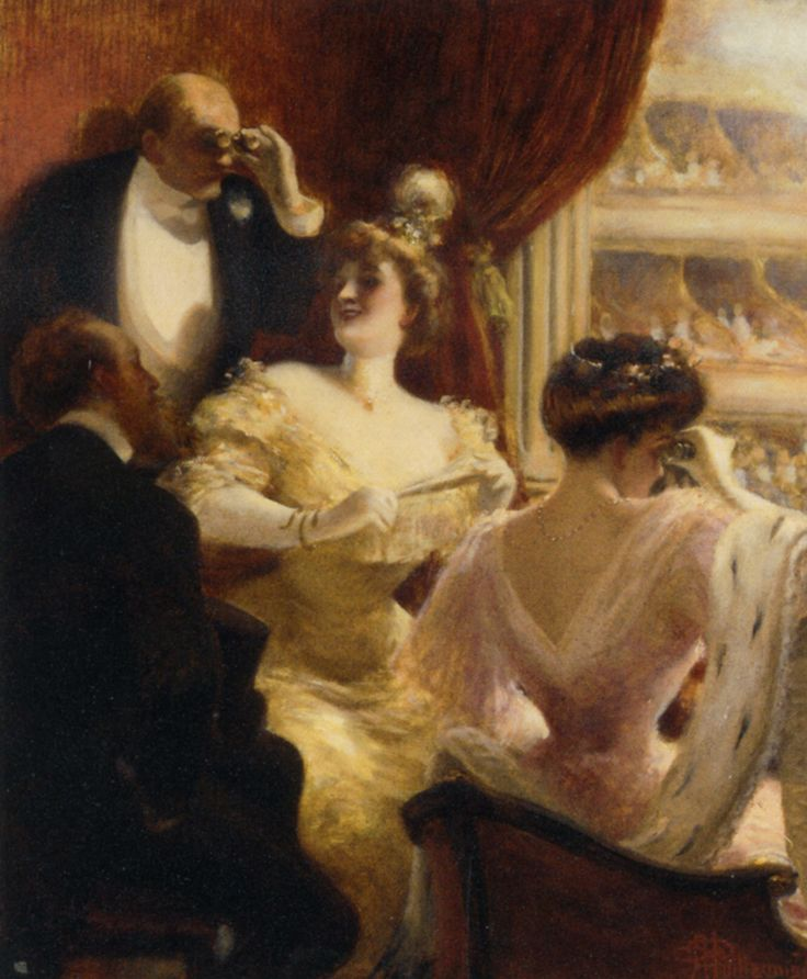 Albert Guillaume : la loge au théâtre