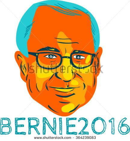 "Jan. 19, 2016: WPA style illustration showing Bernard ""Bernie"" Sanders, American Senator, elected politician and Democrat presidential candidate with words Bernie 2016. - stock vector #Sanders2016 #wpa #illustration"