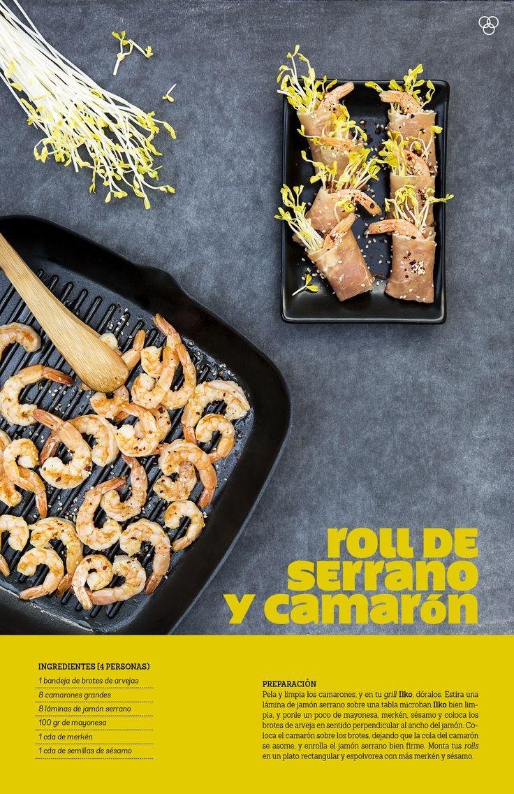 Roll de serrano y camarón / IMG Pin Campaña #ilko #camarón