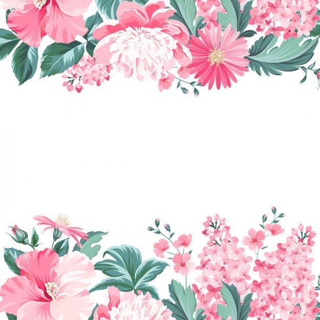 Projeto floral do fundo Vetor Premium