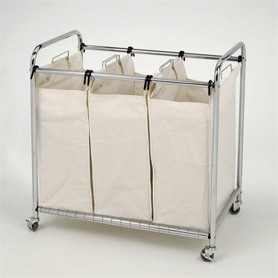 Vancouver Classics She16166 Chrome 3 Bag Laundry Sorter