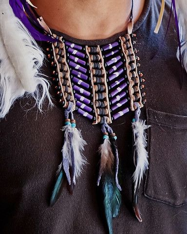 Native American Breatplate - Small Purple - $24
