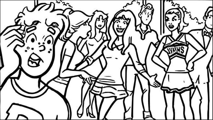 Archie Meets Glee Coloring Page Coloring Pages Bible Coloring Coloring Sheets For Kids