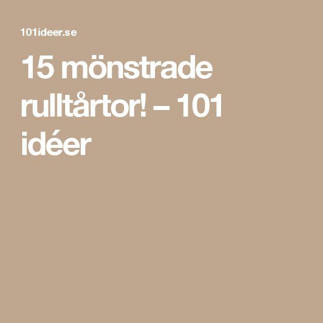 15 mönstrade rulltårtor! – 101 idéer