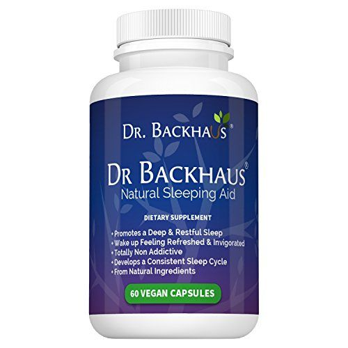Dr Backhaus Natural Sleep Aid - Now Available in the USA - Promotes a Deep & Restful Sleep, Develops a Regular Sleep Pattern - Non Addictive - Contains Melatonin, Valerian, Gaba, Chamomile, 5-HTP..:   With 35% of the adult population suffering from insomnia, sufferers are constantly looking for effective insomnia cures and with countless sleeping pills to choose from the choice is endless. Many insomnia sufferers go to their doctor for prescription sleeping pills but by far the most po...
