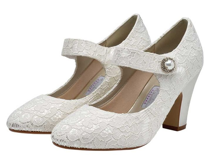 Betty - Retro Style Mary Jane Wedding Shoes - I think these are the ones!