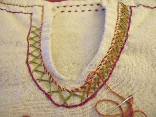 The Looking Glass and The Skeleton Key: Embroidered Embellishment (Clothing Edition)