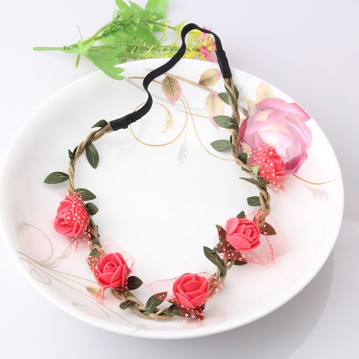 Headband with Flowers //Price: $7.95 & FREE Shipping //     #haircolor #hairstyles