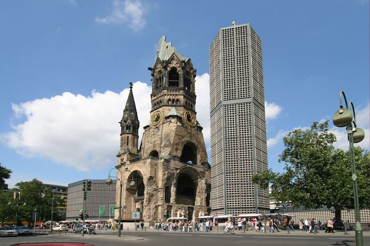The Kaiser Wilhelm Memorial Church is in the center of the Breitscheidplatz  in Berlin. The concrete and glass structure … | Berlin, Germany travel,  Places to travel