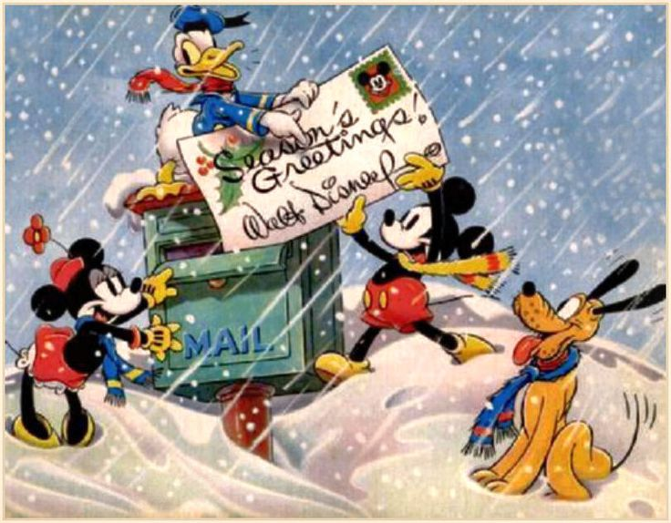 1936 Vintage Disney Christmas Card From Studios