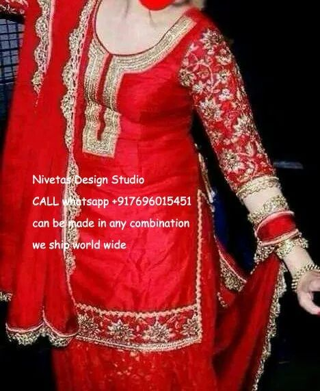 for enquiry kindly send msg or call +917696015451, & for what,s up +917696015451 EMAIL: nivetasfashion@gmail.com we can make any color combination we ship all over the world #punjabi #patiala #salwar #suit #boutique #dupatta #india #punjabi #fashion