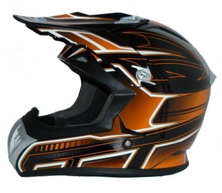 Casco enduro naranja negro FS603-OR