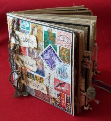 Project Art Journal - Cover: Art Journals Covers, Brown Paper Bags, Travel Journals, Minis Album, Bags Journals, Projects Art, Art Journalscrapbook, 100 1015 Alt, Artjournals