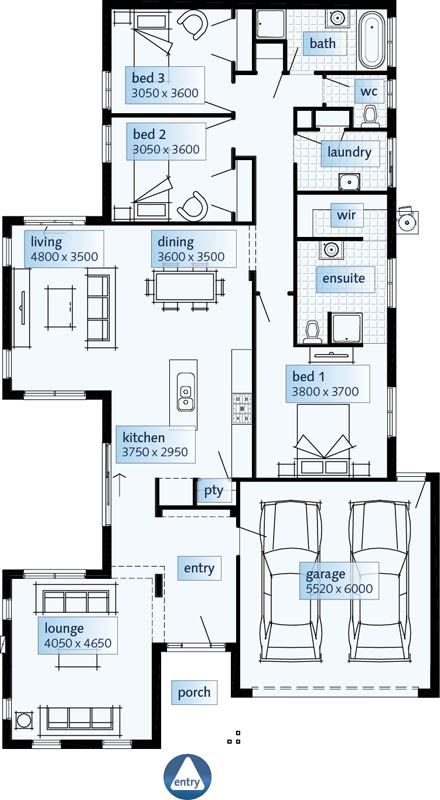Modern One Story House Plan With Lots Of Natural Light: 8 Best Single Story House Plans Images On Pinterest
