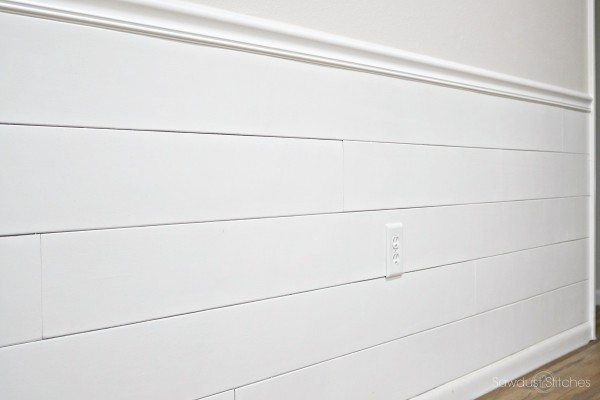 Covering Wallpaper with Faux Shiplap   bedroom crafts I