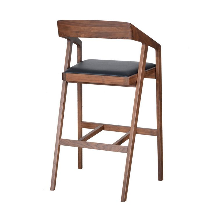 Padma Walnut Barstool Moe's Home Collection Bar Height (28 To 36 Inch) Bar Stools Kitchen