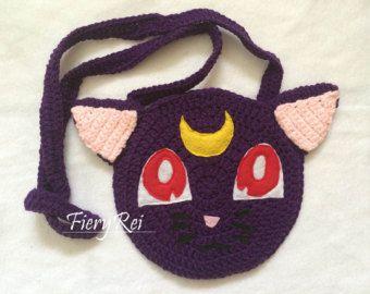 Sailor Moon Luna monedero de ganchillo