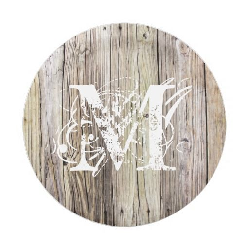 Rustic Wood Monogrammed Paper Plates  sc 1 st  Pinterest & 437 best Paper Plates images on Pinterest | Lyrics Text messages ...