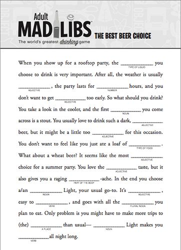 Adult Mad Libs books - Please Read Responsibly