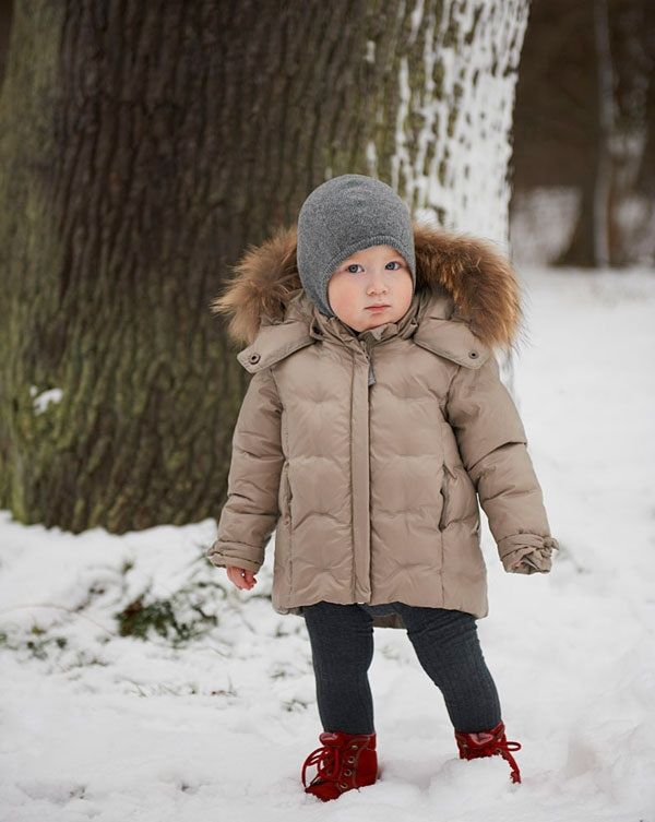 VER de TERRE | Featherlight baby girls jacket w/fur | AW13