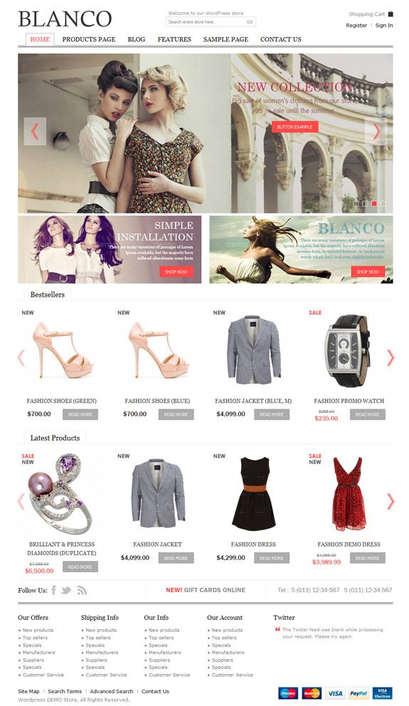 Best eCommerce WordPress Theme for any online store with responsive layout