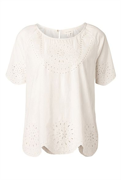 Broderie Cut Out Top #Witchery Wishlist