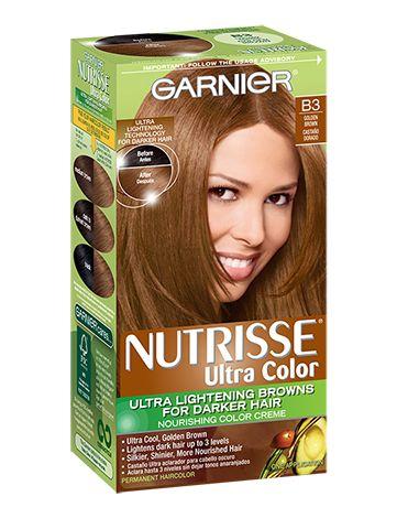 Garnier Nutrisse Ultra Color B3 - Golden Brown (Cafe Con ...
